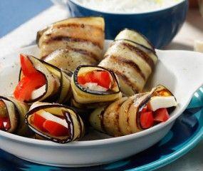 Aubergine-mozzarellapakketjes