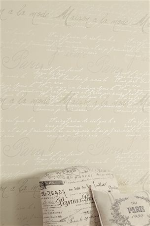 Buy French Script Wallpaper from the Next UK online shop - Idea for spare room feature wall