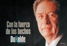 Afiche de la campaña de Duhalde