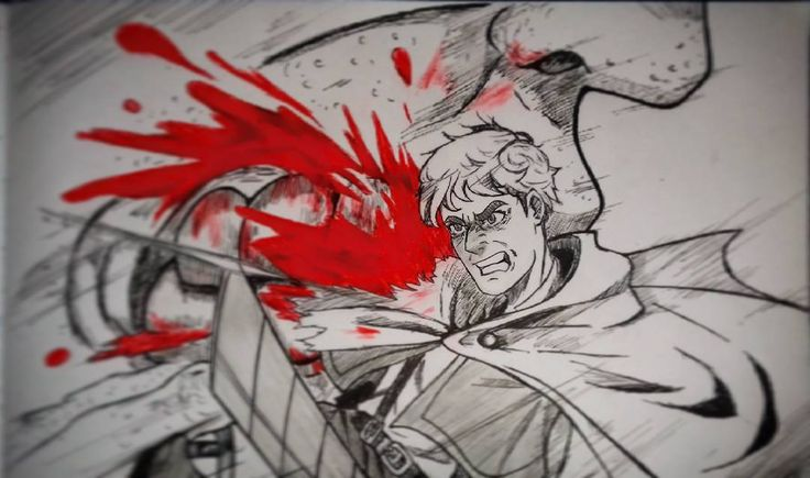 """48 Me gusta, 4 comentarios - Angelo Reyes (@king_angelodraw) en Instagram: """"✏Sketch✏ Erwin de Shingeki no kyojin!!! Uufff cuando Erwin tiene protagonismo es muy epico xDD . .…"""""""