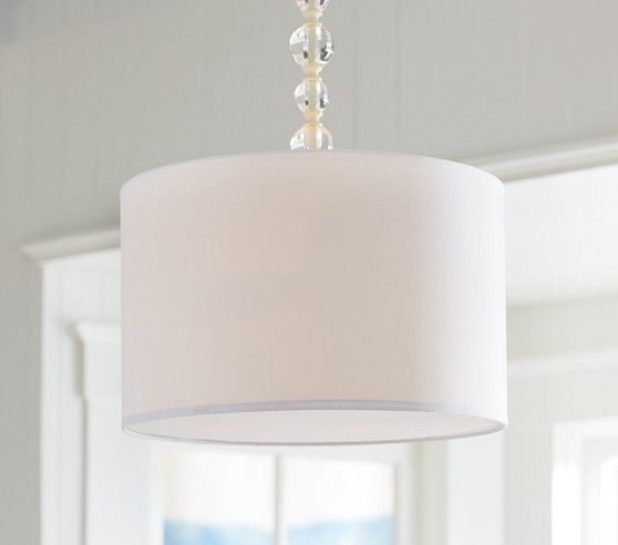 Exceptional Classic White Light Fixture For Nursery   Acrylic Hanging Drum Pendant |  Pottery Barn Kids