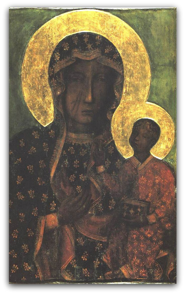 The Black Madonna of Częstochowa (Polish: Czarna Madonna or Matka Boska Częstochowska, AKA Our Lady of Częstochowa, is a revered icon of the Virgin Mary housed at the Jasna Góra Monastery in Częstochowa, Poland.