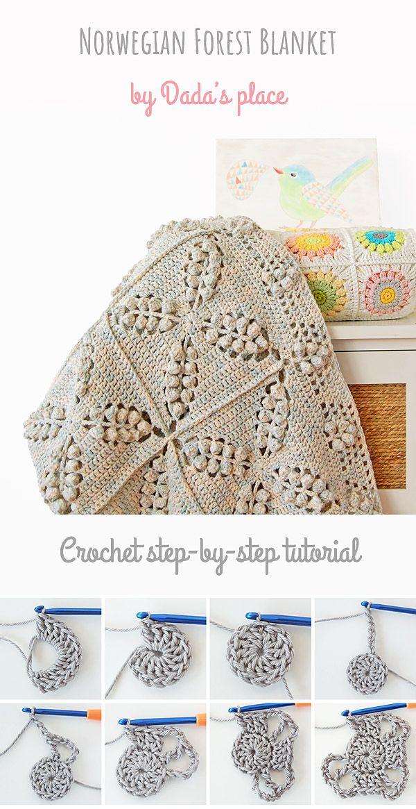 b57cf85addf46 CROCHET PATTERN : Norwegian Forest Blanket | crochet | Afghan ...