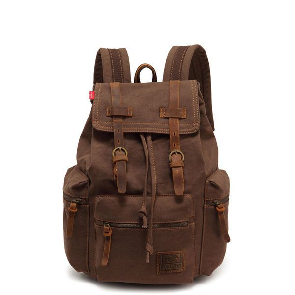Vintage Canvas Tactical Rucksack with Leather trim #heavyduty #Backpack #backtoschool #backtowork #travel #nerozeroshop