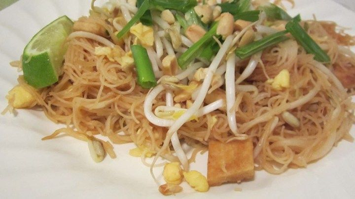 Make your own pad Thai recipe at home using this simple vegetarian recipe of rice noodles cooked with scrambled egg and tofu and topped with a perfectly-balanced sauce.