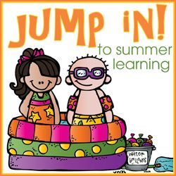 Jump In To Summer Learning. 5 Themes with printables. Themes include Space, Ocean, Beach, Dinosaur and Pioneer from 3 Dinosaurs and Royal Baloo.
