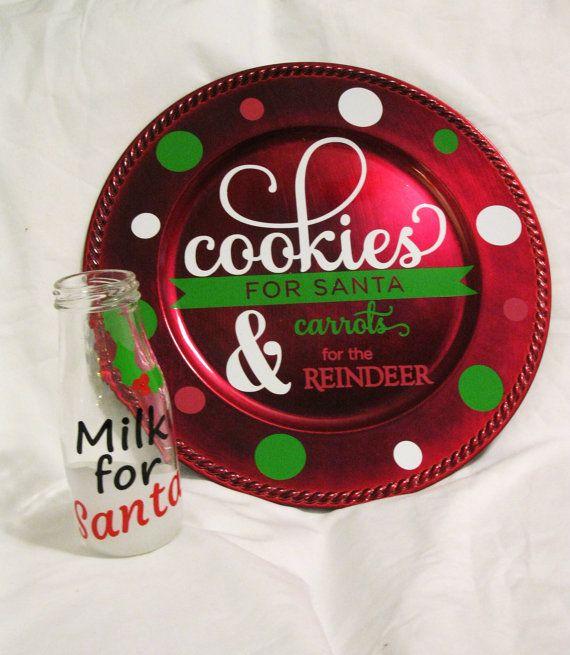 Santa Plate- Cookies for Santa Plate- Cookies