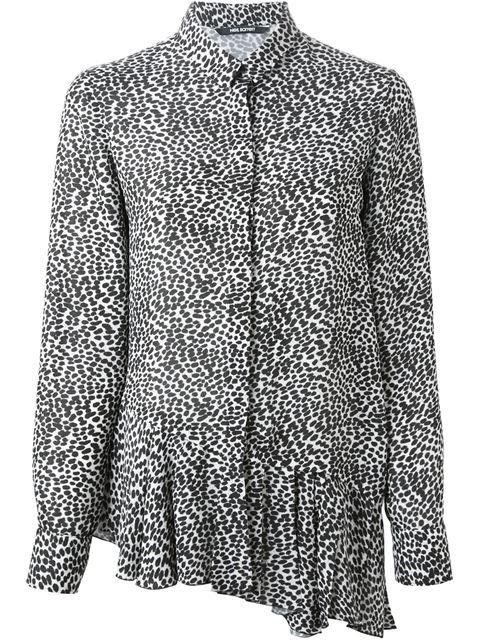 NEIL BARRETT pleated hem blouse. #neilbarrett #cloth #blouse