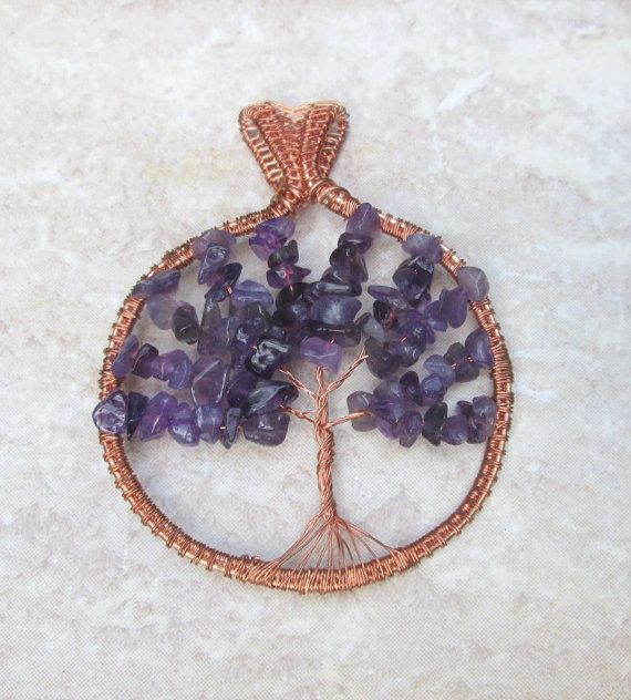 amethyst tree of life pendantamethyst tree by FloralFantasyDreams