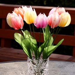 How to make a nylon tulip; Nylon Flowers Tutorial Videos at http://www.newsheer.com/handmadecraft_tulips.php