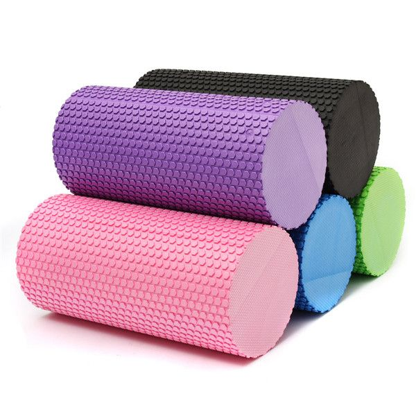 EVA Yoga Fitness Foam Roller Massage Grid Column Trigger Point Therapy Slimming Exercise Foam