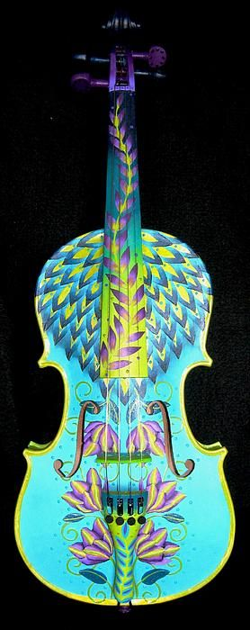Painted Violin by Elizabeth Elequin