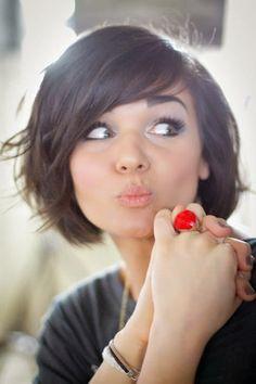 Terrific 1000 Ideas About Layered Bob Bangs On Pinterest Bob Bangs Hairstyles For Women Draintrainus