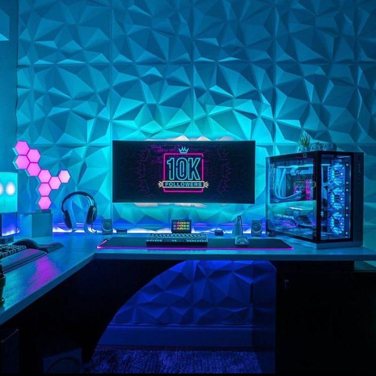 gaming setup follow computer bedroom rooms
