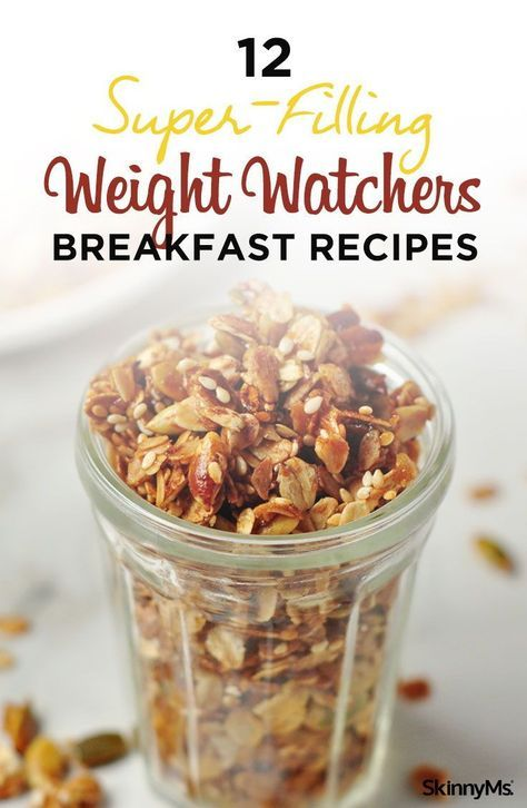 Don't worry about filling up on empty calories in the morning! Choose one of these 12 super-filling Weight Watchers breakfast recipes instead. #ww #weightwatchers #breakfast #recipes
