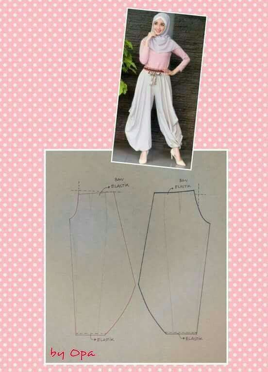 Ankle puff pants pattern