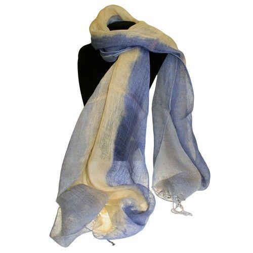 Classic Soft Pure Indian Linen Scarves Blue Combo L: 200 cm; W: 50 cm | eBay