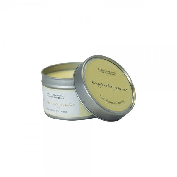 Beautifully fragranced natural soy wax candle. Honeysuckle and Jasmine fragrance. Perfect for the home or given as a gift.