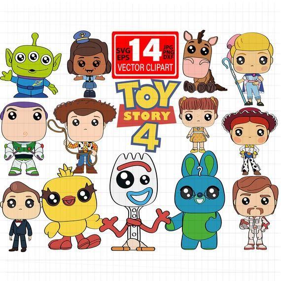 New Toy Story 4 Cricut Svg Disney Pixar Svg 2019 Files For Cricut Birthday Shirts Toy Story 4 Funk Toy Story New Toy Story Cute Disney Drawings