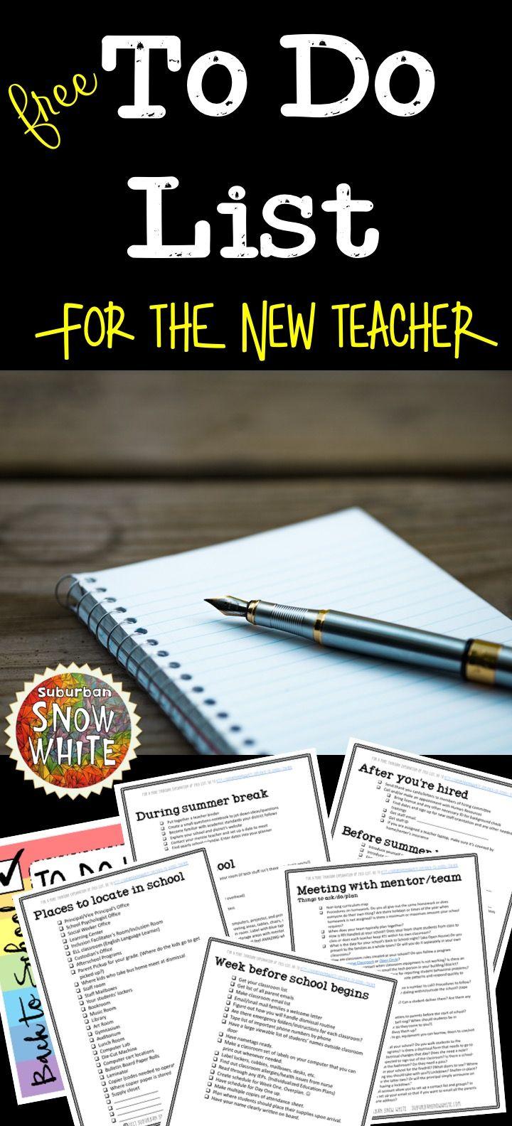 Back to School Teacher To Do List , AKA Suburban Snow