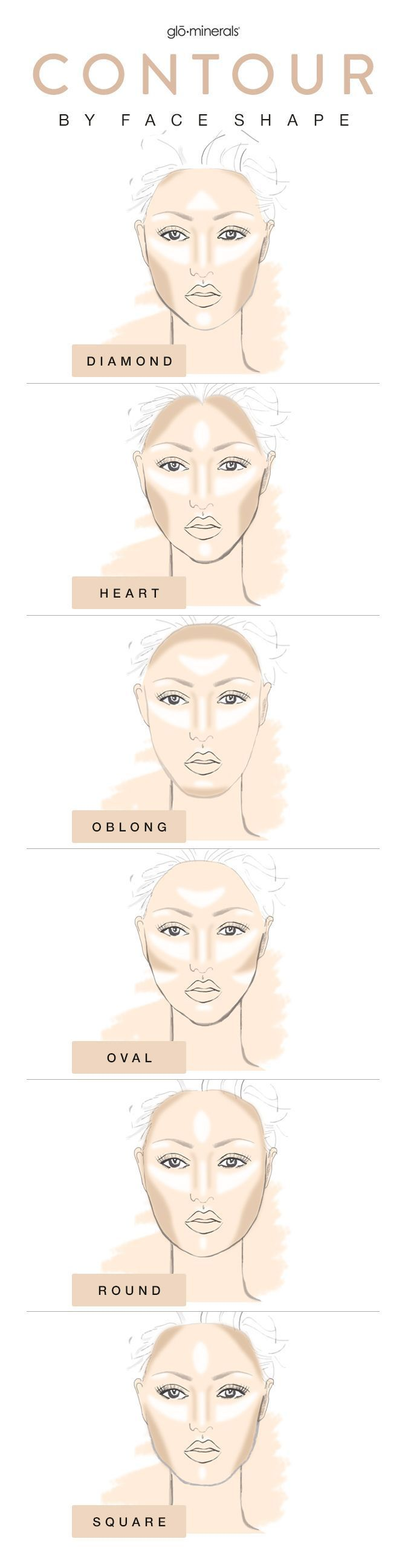 Make sure you are contouring according to your face shape. Use this guide and learn how to contour and highlight for every face shape