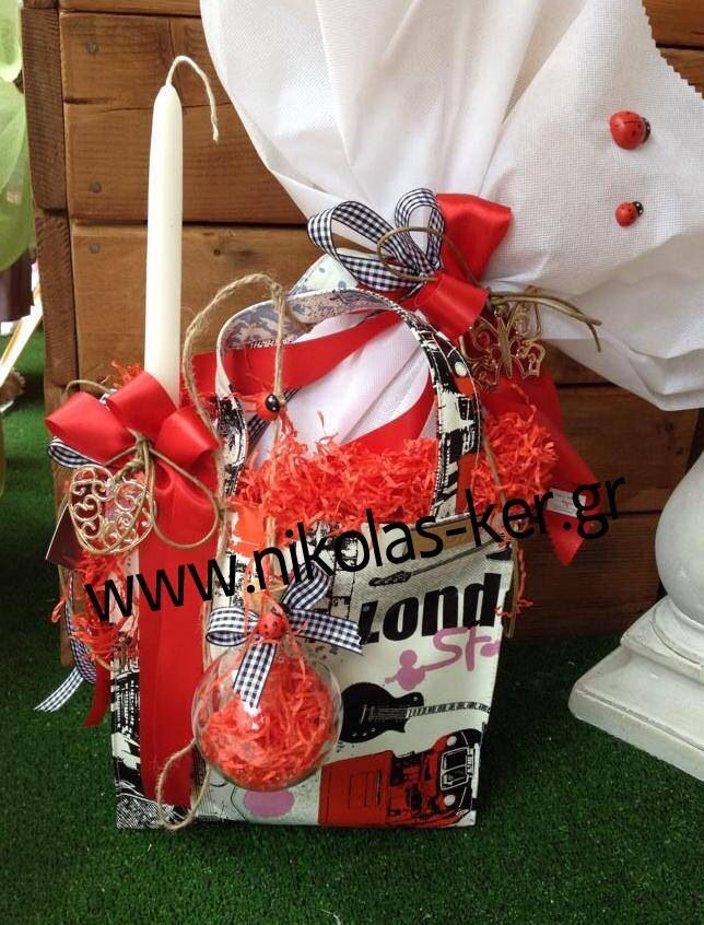 Shopping bag London με σοκολατένιο αυγό & λαμπάδα! Πασχαλινό δώρο για μια φίλη ή για μια μεγάλη κοπέλα βαφτιστήρα. www.nikolas-ker.gr