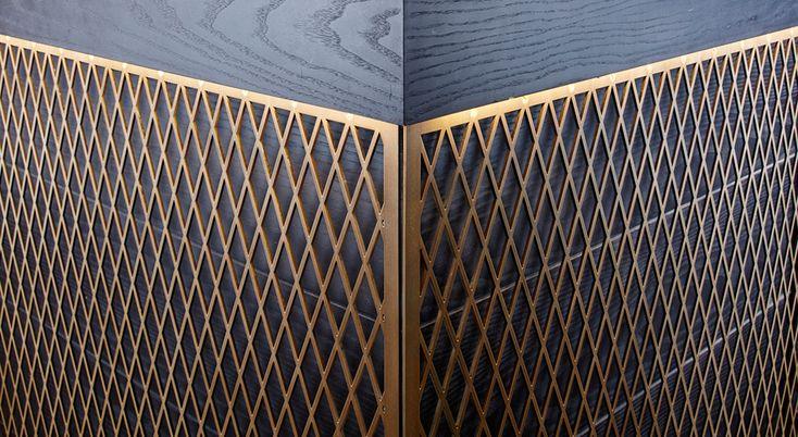 Gold interior detail AMOS and AMOS | DESIGN + INTERIOR ARCHITECTURE