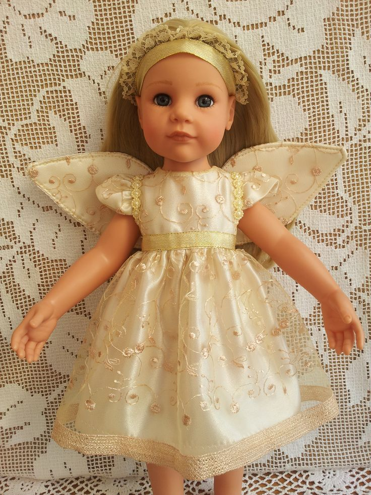 Hannah Gotz Doll American Girl Designafriend Gold Angel Dress with Wings