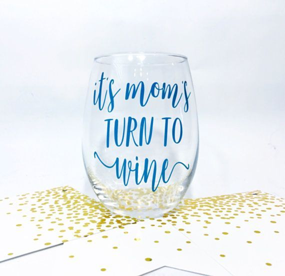 Mom Wine Glass Mother's Day Wine Glass Mother's by OhLOLAandco