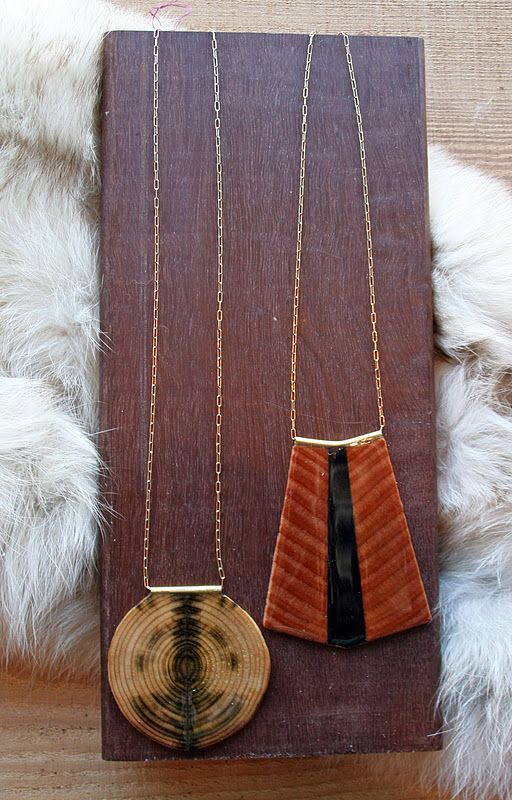 GUILLEMETTE WOOD JEWELRY : Feathers Boutique Vintage