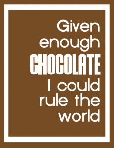 Coffee or Chocolate ... either would suffice!