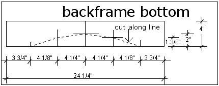 adirondack chair lower back plan