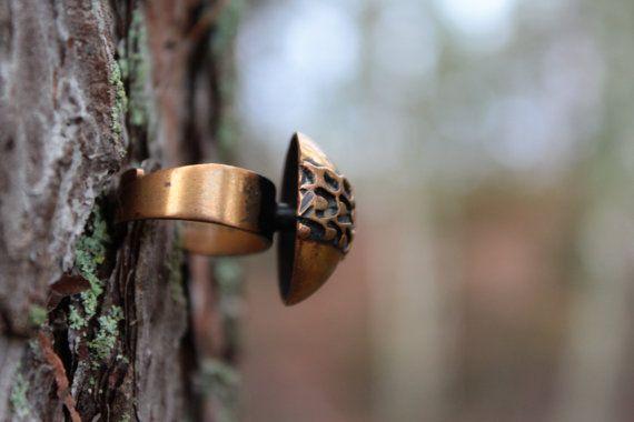 SALE Modernist bronze ring signed Pentti Sarpaneva, Finnish design, c.1960s bronze statement ring