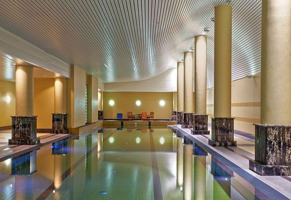 Affectionately known as The Toaster to Sydneysiders because of its resemblance to the kitchen appliance, the apartment building at Bennelong Point's penthouse — Indoor Swimming Pool