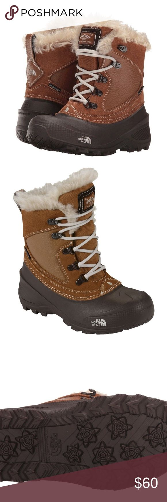 The North Face Youth Shellista Extreme Snow Boot The North Face Youth Shellista Extreme little kid YOUTH US 13 Brown Snow Boot Toasty winter boots for snowy climates and cold weather little kid size 13 (4-7 years) uk 12/EU 31 200g Heatseeker insulation traps fiery warmth Faux fur lining envelopes her feet in cozy comfort Waterproof leather upper repels deep snow and slush Winter Grip rubber sole for traction on snow and ice The North Face Shoes Rain & Snow Boots