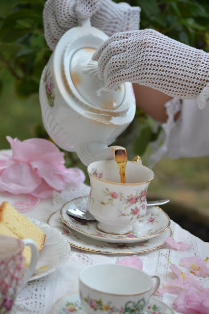 Marie Antoinette Tea Party at French Blue and Peachy Pink.blogspot.com