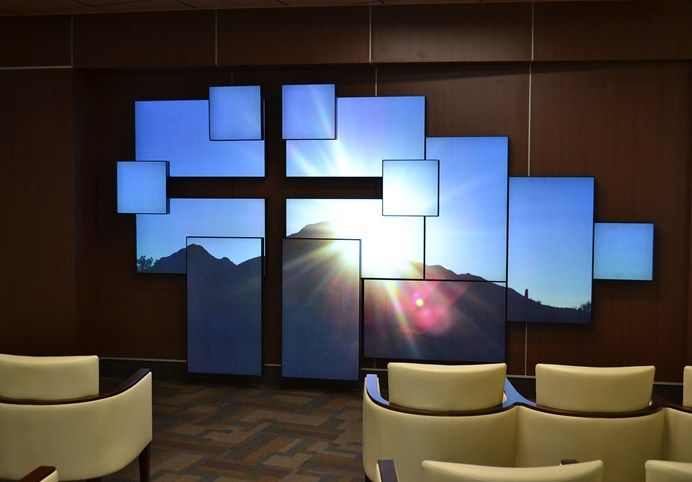planar mosaic video wall