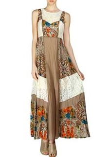 Ryu Clothing Patchwork Maxi Dress RDA3897