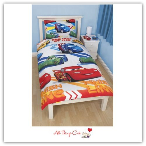 Disney CARS Speed Single Duvet/Quilt Cover (Reversible) Also available in Double Size #disneycars #cars #McQueen #racing #bedding