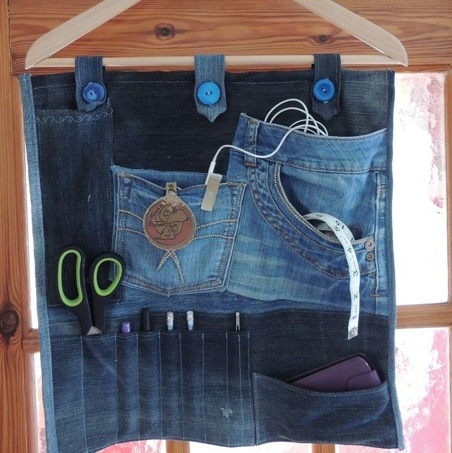 Denim Hanging Organiser £30.00