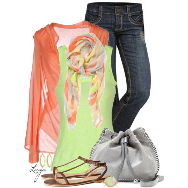 """""""Tangerine and Lime"""" by lagu on Polyvore"""