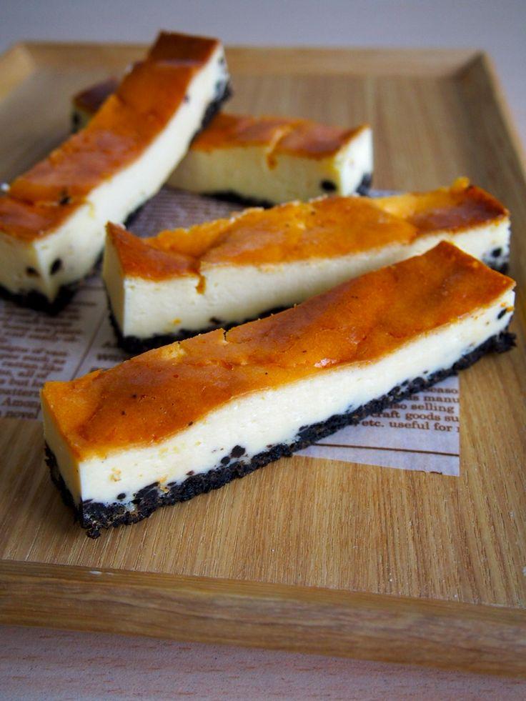 ミキサーで作れる☆オレオのスティックチーズケーキのアイデア♡