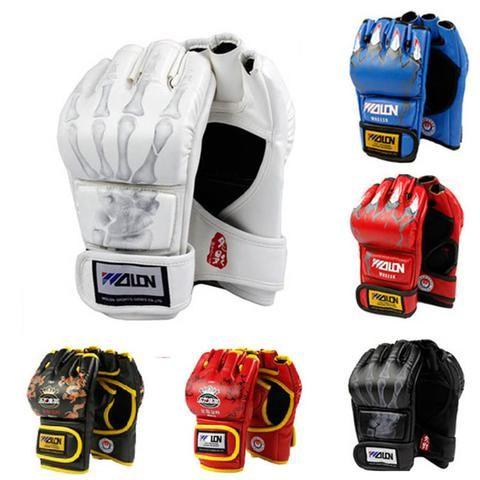 MMA Muay Thai Kick Boxing Gloves Half Fighting Boxing Gloves Competition Training Gloves - Primo Gear