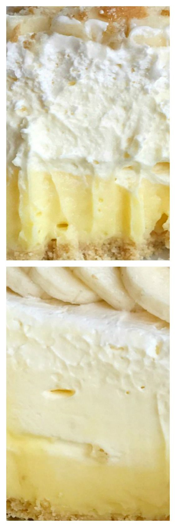 (no bake, creamy) Triple Layer Banana Pudding Cheesecake Pie