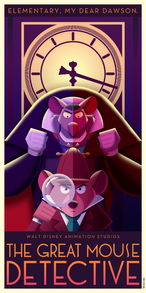 Disney Art Deco Posters: Part II - Created by David G. FerreroYou can check out Part I here.