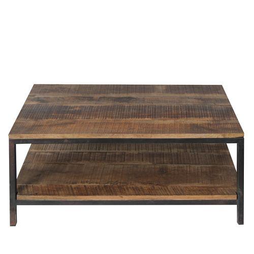 Salontafel Vintage  Afmeting: 60x90x46 cm (LXBXH)  Deze stoere vintage salontafel heeft een zwart onderstel metalen onderstel. De tafelbladen zijn gemaakt van robuust mango hout. De combinatie van deze twee zorgt voor een stoere salontafel.  Mocht dit niet uw maat zijn. u kunt ze ook bestellen in de maat: 60 x 60 cm 80 x 80 cm 60 x 110 cm  MAAT 60X60 en 60x90 is vanaf 10 december weer leverbaar!