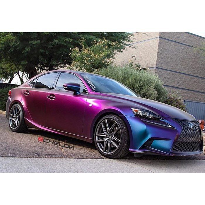 Lexus Wrapped In Avery Colorflow Satin Rushing Riptide Cyan Purple Shade Shifting Vinyl Request A Quote Nbsp Avery Vinyl Lexus Orange Car