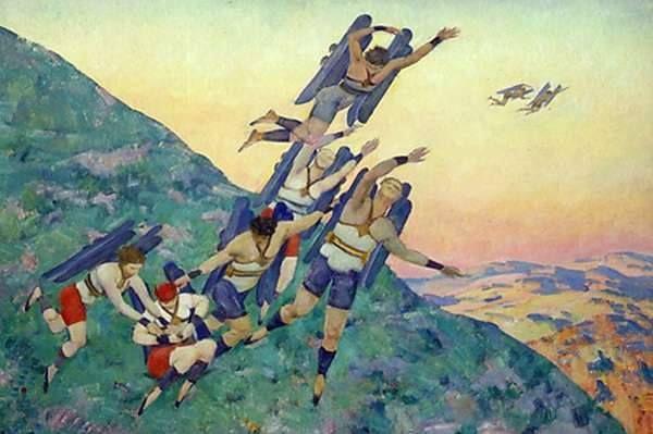 Konstantin Yuon. People of the future. 1929
