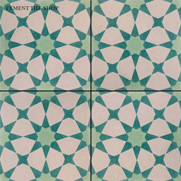 Cement Tile Shop - Handmade Cement Tile | Agadir Vert Clair