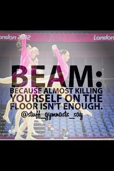 gymnastics quotes about beam - Google Search